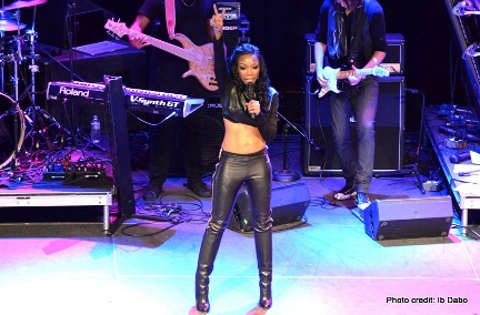 Brandy Norwood performs in Baltimore